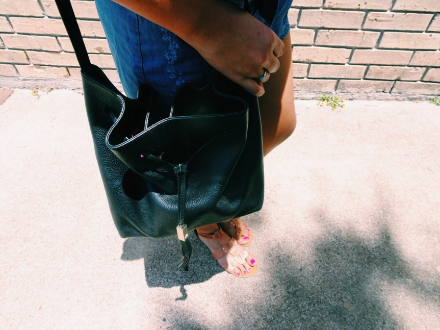 kate spade bucket bag in black