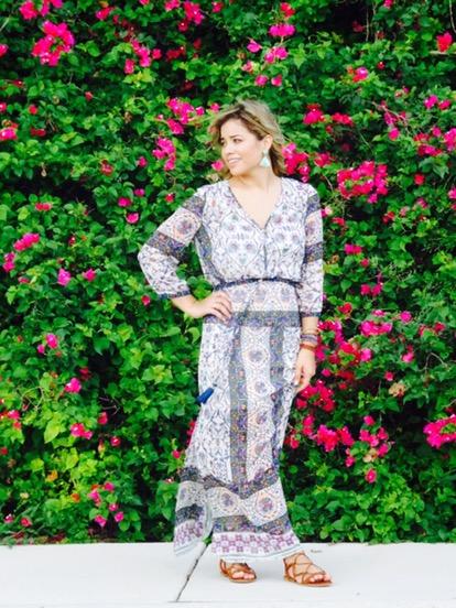 print maxi dress outfit