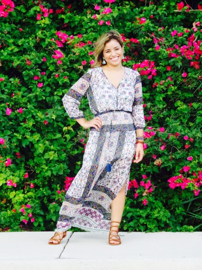 chelsea and violet print maxi dress