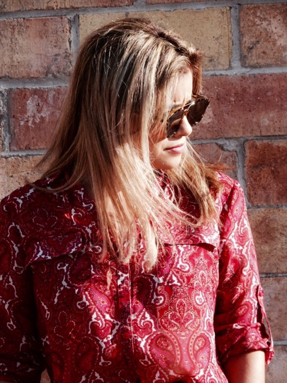 paisley blouse  outfit